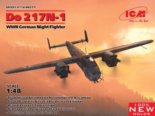 ICM 48271 Do 217N-1,WWII German Night Fighter (100% new molds)