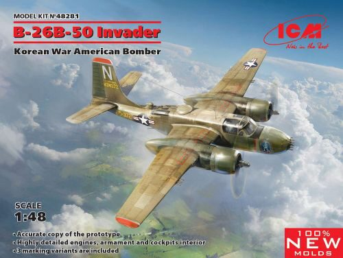 ICM 48281 B-26B-50 Invader, Korean War American Bomber