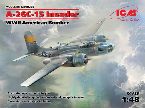 ICM 48283 A-26-15 Invader, WWII American Bomber