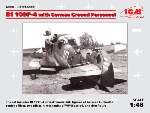 ICM 48805 Bf 109F-4 with German Ground Personnel