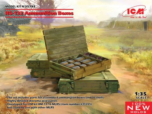 ICM 35795 RS-132 Ammunition Boxes (100% new molds)