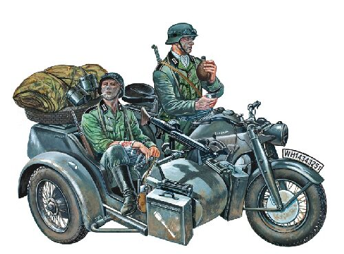 Italeri 0317 ZUNDAPP KS750 WITH SIDECAR