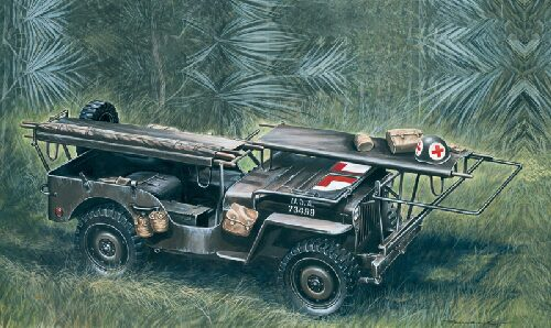 Italeri 0326 1/4 ton. 4x4 AMBULANCE JEEP