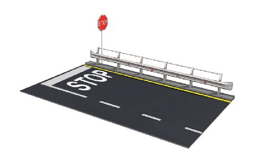 Italeri 3864 Guard Rail &amp, Road Section for display