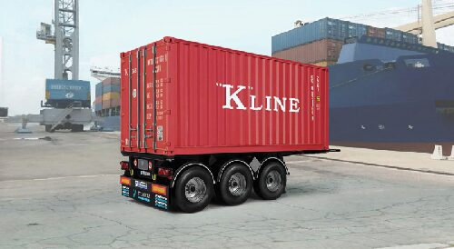 Italeri 3887 20' Container Trailer