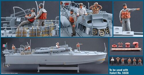 Italeri 5611 M.A.S. CREW and accessories