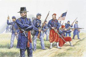Italeri 6012 Union Infantry and Zouaves