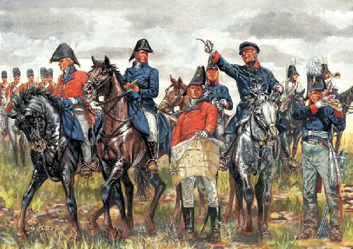 Italeri 6065 WATERLOO (200years) BRITISH &amp: PRUSSIAN GEN.ST.