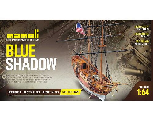 Mamoli 21722 Blue Shadow Bausatz 1:64 Mamoli