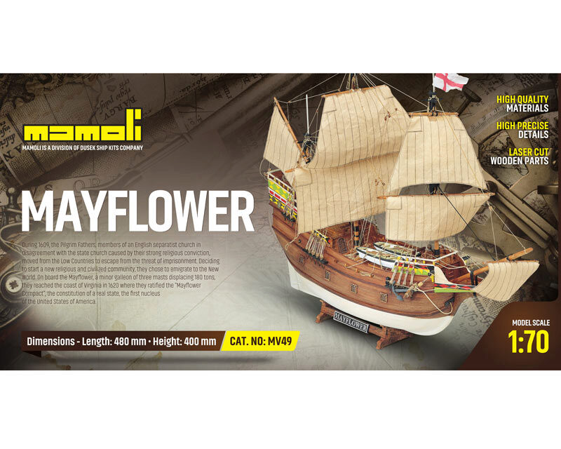 Mamoli 21749 Mayflower Bausatz 1:70 Mamoli