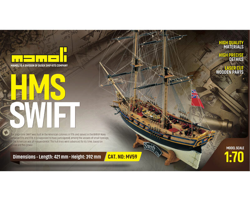 Mamoli 21759 Swift Bausatz 1:70 Mamoli