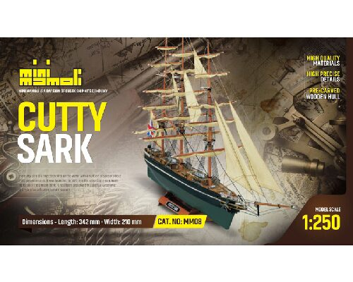 Mini mamoli 21808 Cutty Sark Bausatz 1:250 Mini Mamoli