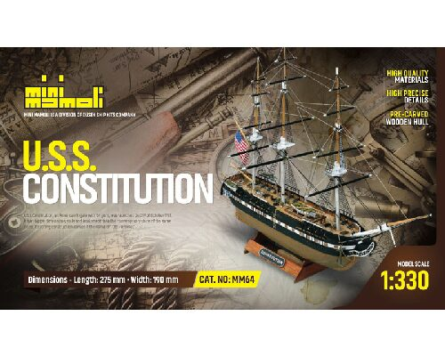 Mini mamoli 21864 USS Constitution Bausatz 1:330 Mini Mamoli
