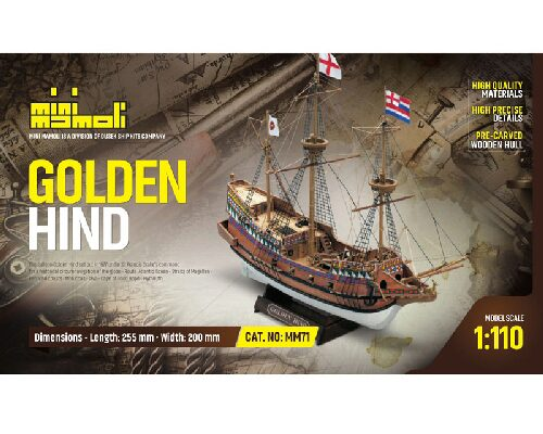 Mini mamoli 21871 Golden Hind Bausatz 1:110 Mini Mamoli