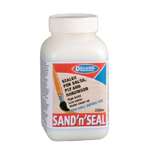 DELUXE MATERIALS 44097 Sand n Seal Porenfüller/Grundierung 250 ml