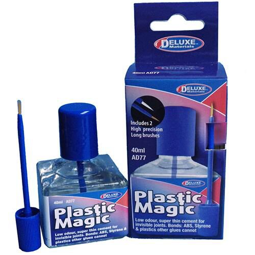 DELUXE MATERIALS 44117 Plastic Magic Klebstoff mit Pinsel 40 ml DELUXE