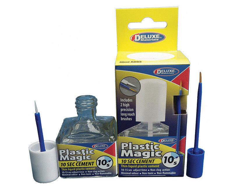 DELUXE MATERIALS 44119 Plastic Magic 10 Sek. Klebstoff mit Pinsel 40 ml DELUXE