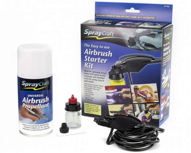 Spraycraft 493212 Easy-to-Use Airbrush Starter Kit SP10EL