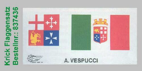 Mantua 837436 Flaggensatz Am. Vespucci 1:100