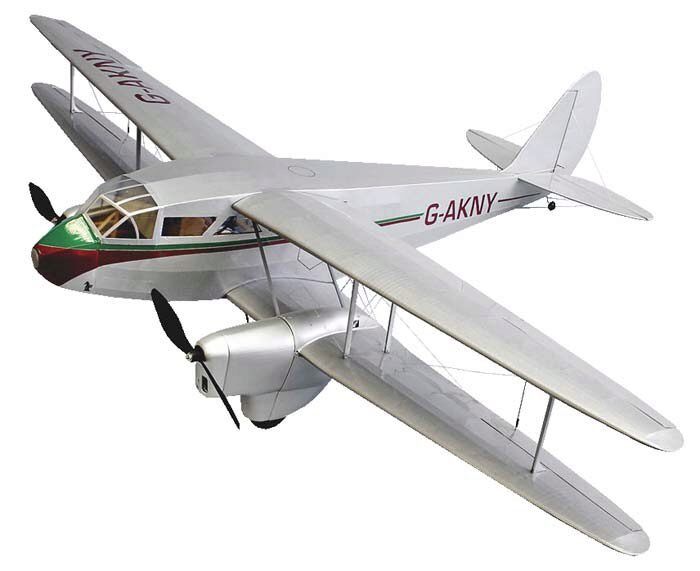 DUMAS AIRCRAFT ds1815 Dehavilland DH-89 Dragon Rapide EP Lasercut Bausatz