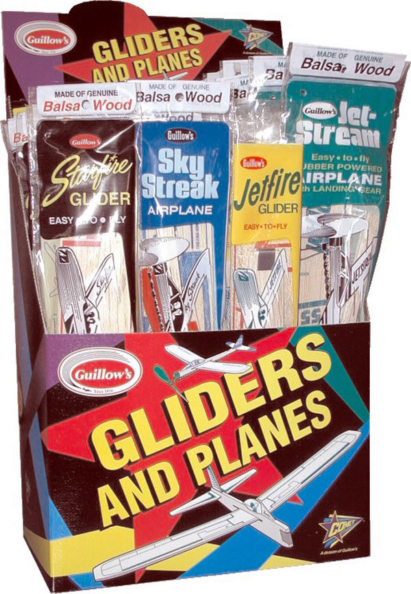 GUILLOW'S gu77 Combo Pack 4  (Display 48 Balsa Flugmodelle)