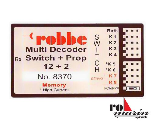 ROMARIN ro8370 Multi-Switch-Prop 12+2 Decoder Memory
