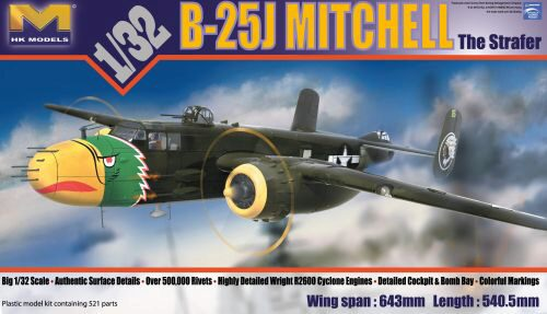 "HK Models 01E03 B-25H Mitchell ""Gunship"""