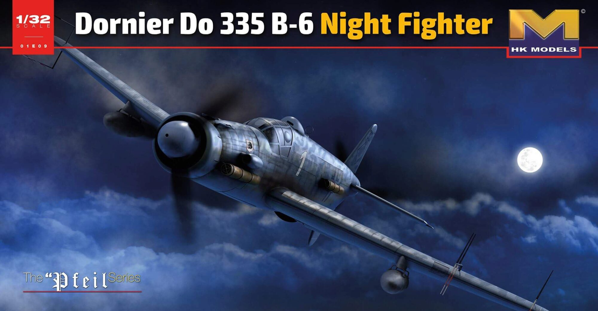 HK Models 01E21 Dornier Do 335 B-6 Night Fighter