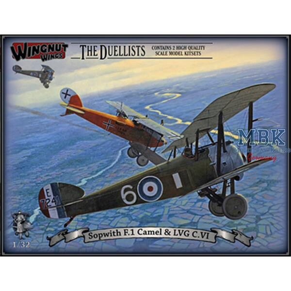 Wingnut Wings 32803 Sopwith F.1 Camel & LVG C.VI