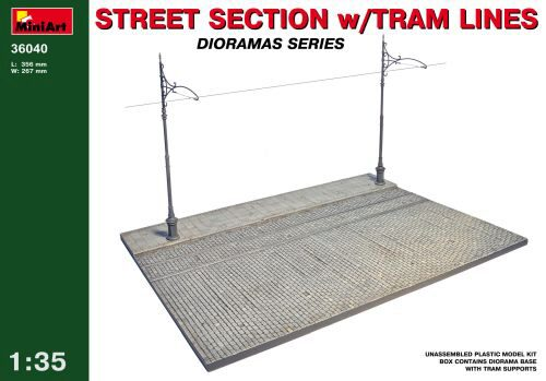 MiniArt 36040 Street Section w/Tram Line