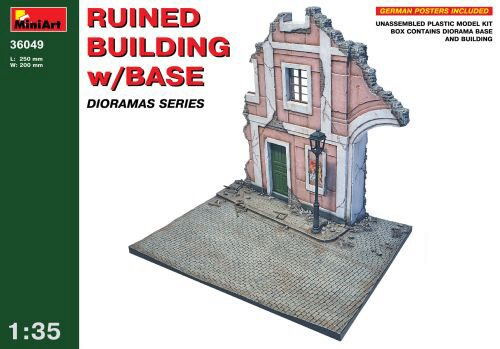 MiniArt 36049 Ruined Building w/Base
