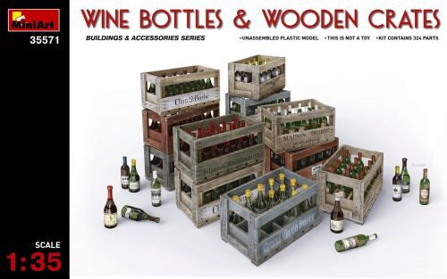 MiniArt 35571 Wine Bottles & Wooden Crates