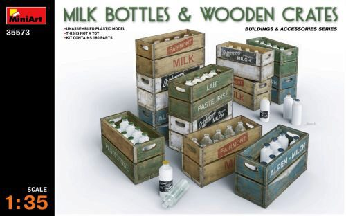 MiniArt 35573 Milk Bottles & Wooden Crates