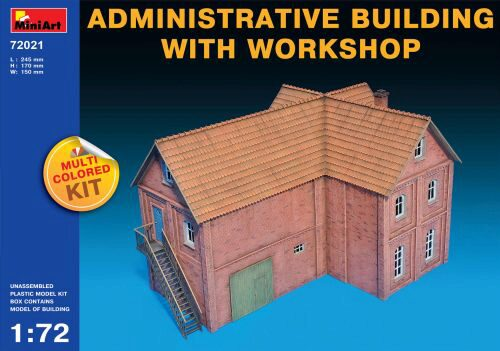 MiniArt 72021 Administrative Building with Workshop