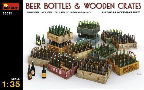 MiniArt 35574 Beer Bottles & Wooden Crates