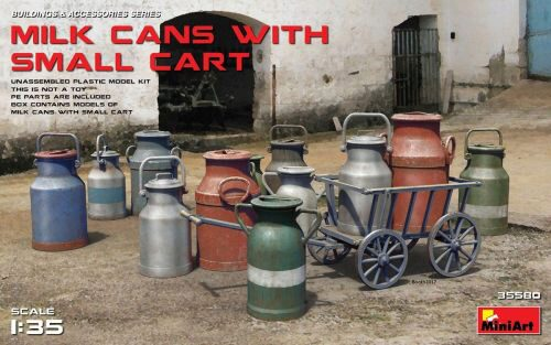 MiniArt 35580 Milk Cans with Small Cart