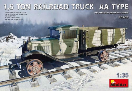 MiniArt 35265 1,5 Ton Railroad Truck AA Type