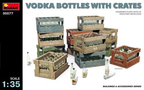 MiniArt 35577 Vodka Bottles with Crates