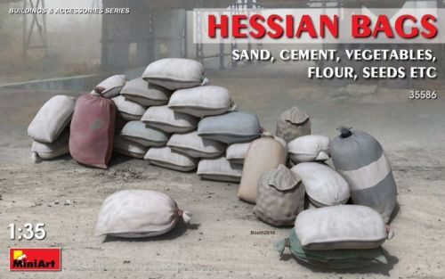MiniArt 35586 Hessian Bags (sand, cement, vegetables)
