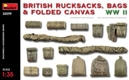 MiniArt 35599 British Rucksacks,Bags&Folded Canvas WW2