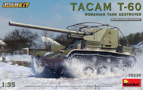MiniArt 35230 Tacam T-60 Romanian Tank Destroyer. Interior Kit