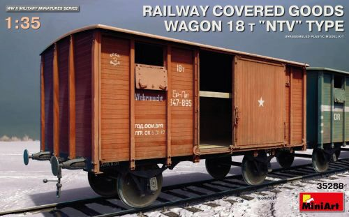 "MiniArt 35288 Railway Covered Goods Wagon 18 t ""NTV""Ty"