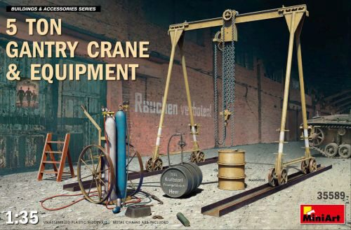 MiniArt 35589 5 Ton Gantry Crane & Equipment