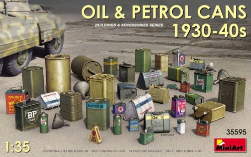MiniArt 35595 Oil & Petrol Cans 1930-40s
