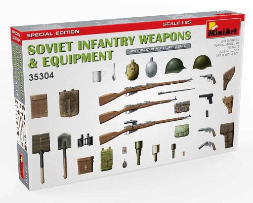 MiniArt 35304 Soviet Infantry Weapons and Equipment. Special Edition