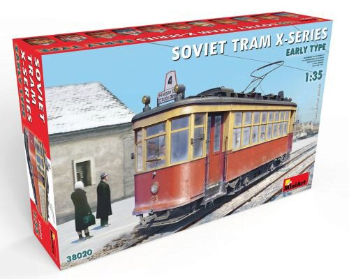 MiniArt 38020 Soviet Tram X-Series. Early Type.
