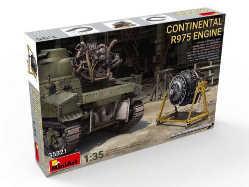 MiniArt 35321 Continental R975 Engine
