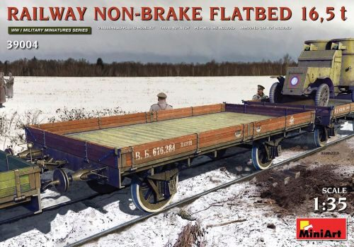 MiniArt 39004 Railway Non-brake Flatbed 16,5 t