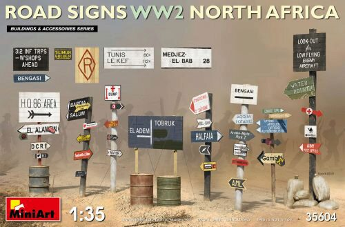 MiniArt 35604 Road Signs WW2 (N.Africa)