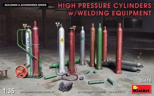 MiniArt 35618 High Pressure Cylinders w/Welding Equipment